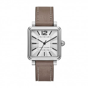 Watch strap Marc by Marc Jacobs MJ1518 Leather Taupe 16mm