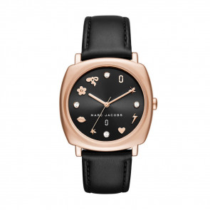 Watch strap Marc by Marc Jacobs MJ1565 Leather Black 18mm