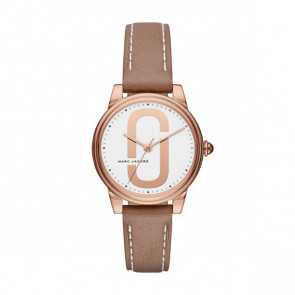 Watch strap Marc by Marc Jacobs MJ1579 Leather Beige 16mm