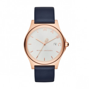 Watch strap Marc by Marc Jacobs MJ1609 Leather Blue 18mm