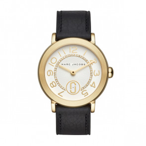 Watch strap Marc by Marc Jacobs MJ1615 Leather Black 18mm