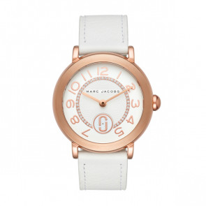 Watch strap Marc by Marc Jacobs MJ1616 Leather White 18mm