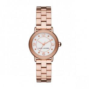 Watch strap Marc by Marc Jacobs MJ3474 Steel Rosé 14mm
