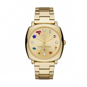 Watch strap Marc by Marc Jacobs MJ3549 Steel Gold plated 18mm