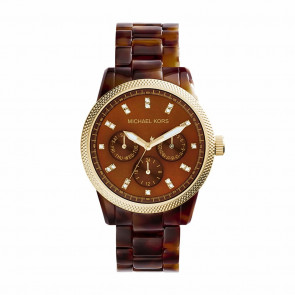 Watch strap Michael Kors MK5038 Plastic Brown