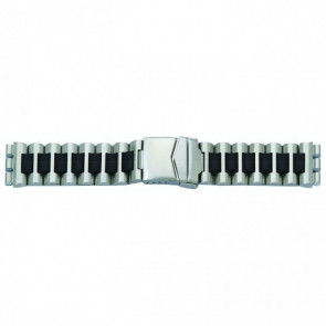 Watch strap for Swatch steel black 19mm 1075
