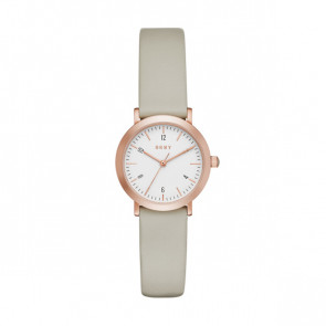 Watch strap DKNY NY2514 Leather Taupe 14mm