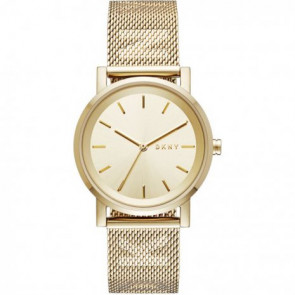 Watch strap DKNY NY2621 Steel Gold plated 18mm