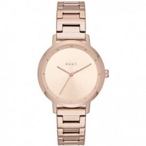 Watch strap DKNY NY2637 Steel Rosé 14mm