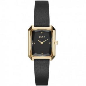 Watch strap DKNY NY2644 Leather Black 12mm