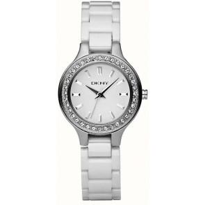 Watch strap DKNY NY4982 Ceramics White