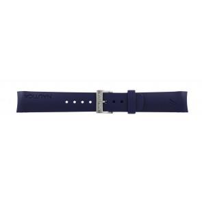 Watch strap Nautica A18640G / A30004G / A12627G / A12627G Rubber Blue 22mm