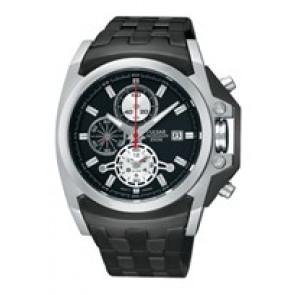 Watch strap Pulsar YM62-X204-PF3843X1 Steel Black