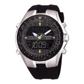 Watch strap Pulsar NX14-X00101 Silicone Black