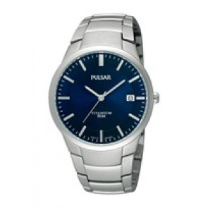 Watch strap Pulsar VJ42 X021 / PS9009X1 / PS9011X1 / PS9013X1 / PH280X Titanium Grey