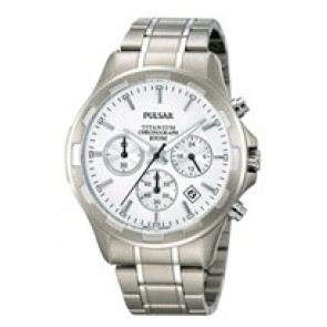 Watch strap Pulsar VD53-X064 / PT3211X1 Titanium Grey 20mm