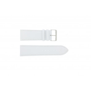 Genuine leather watch strap white 30mm
