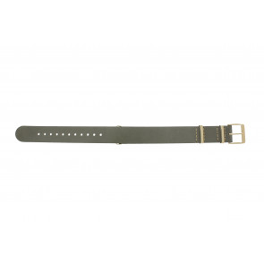 Timex watch strap PW2P98500 Leather Taupe 18mm + beige stitching
