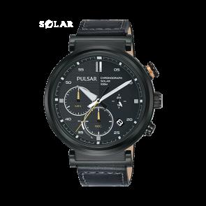 Watch strap Pulsar PZ5071X1 Leather Black 22mm