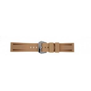 Panerai style watch strap silicone beige 24mm