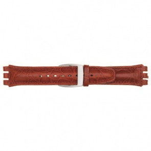 Watch strap Universal 247.07M Leather Red 19mm