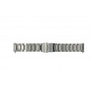 Watch strap QQ22RHSHI Metal Silver 22mm