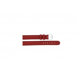 Q&Q watch strap QQ12LDRGS Leather Red 12mm + red stitching
