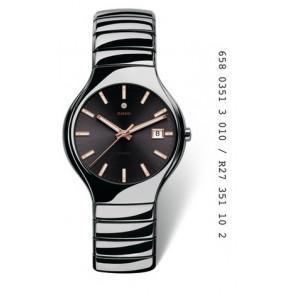 Watch strap Rado R27351102 (07.04671) Ceramics Grey
