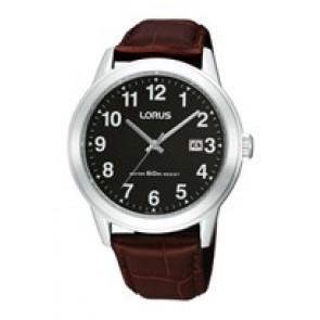 Watch strap Lorus PC32-X019-RH927BX9 Leather Brown 20mm