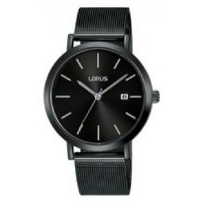 Watch strap Lorus PC32-X144-RH943JX9 Steel Black