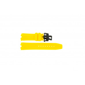 Watch strap Roamer 750837493507 Silicone Yellow 24mm