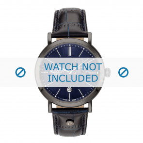 Roamer watch strap 936950-40-45-09 Leather Blue 22mm + standard stitching