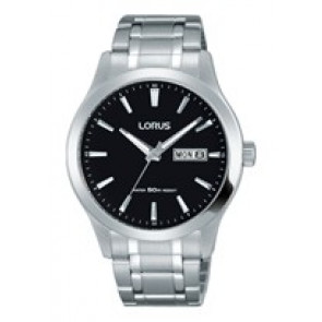Watch strap Lorus VX43-X096-RXN23DX9 Steel Steel