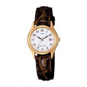 Watch strap Lorus VX82 X285 / RXT94AX9 Croco leather Brown