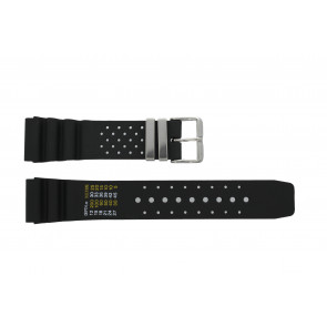 Tzevelion watch strap S285.20.STPASS Rubber Black 20mm