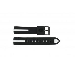 Watch strap Ferrari SF103.7 / 0830104 / SF689300058 Rubber Black 22mm