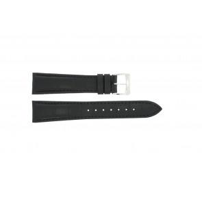 Watch strap Raymond Weil SI1501-BSB-C-2 Crocodile skin Black 15mm