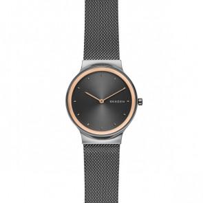 Watch strap Skagen SKW2707 Steel Anthracite grey 16mm