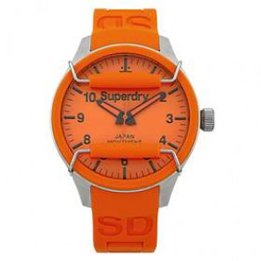Watch strap Superdry SYG109OG Silicone Orange
