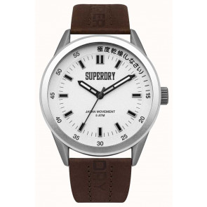 Watch strap Superdry SYG207TS / 222793 Leather Brown