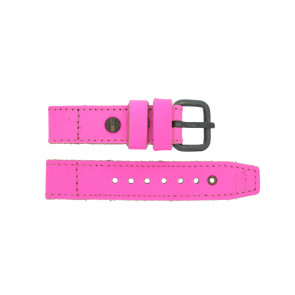 Watch strap Superdry SYL115P Leather Pink 20mm