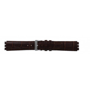Strap for Swatch genuine leather dark brown 17mm 21414