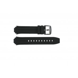 Watch strap Tissot T1114173744103A / T1114173744107A / T603042129 Silicone Black 18mm