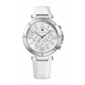 Watch strap Tommy Hilfiger TH-246-3-14-1852S Leather White