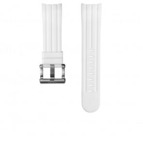 Watch strap TW Steel TWB133 Rubber White 24mm