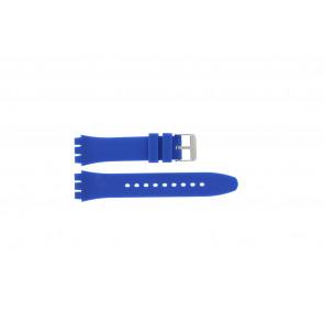 Tzevelion watch strap Tzev-SW Silicone Blue 18mm