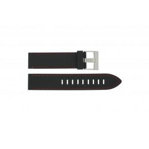 Watch strap Universal XH19 Silicone Black 22mm