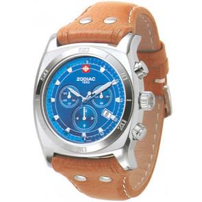 Watch strap Zodiac ZO7012 Leather Cognac