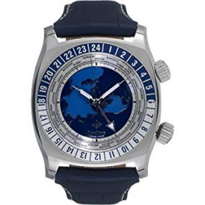 Watch strap Zodiac ZO7000 Leather Blue 26mm