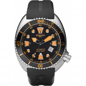 Watch strap Zodiac ZO8007 Rubber Black